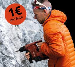 1 € pro verkauftem Rockprojects-Kletterführer gehen in in den Bolt It – Fond.